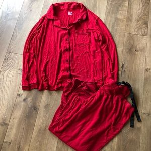 Gilligan & O'Malley Pajama Set In Red - XXL
